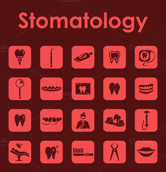 Stomatology Simple Icons