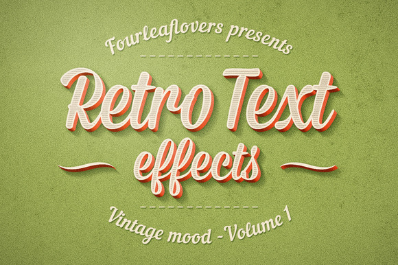 Photoshop Retro Text Effects