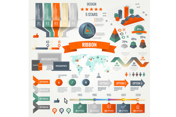 Infographics Set With Options