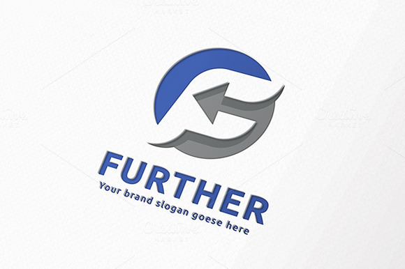 Further Arrow Letter F Logo