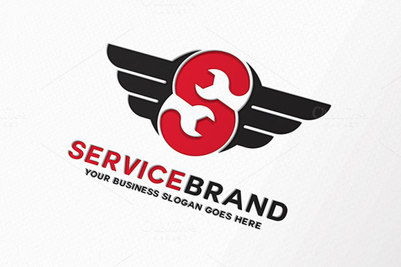 Wing Service Letter S Logo