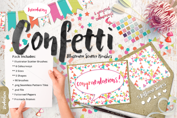 Confetti Scatter Brushes Bonus
