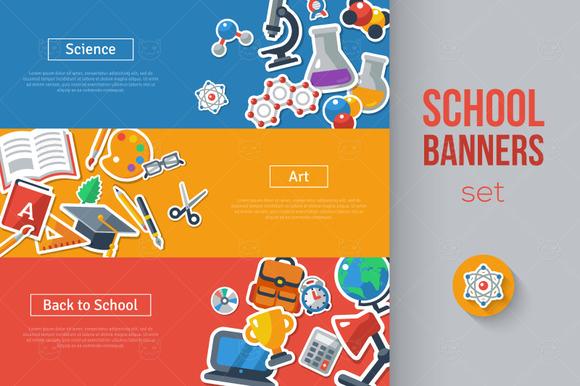 3 School Banners