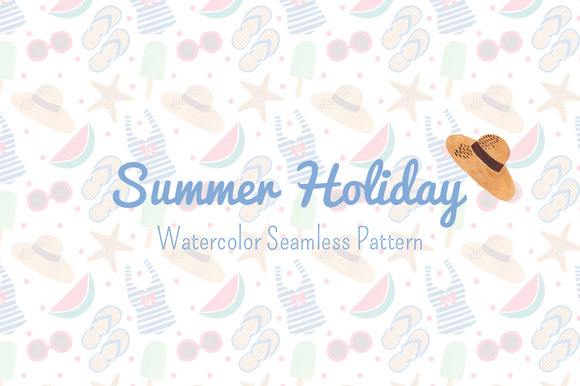 Summer Holiday Seamless Pattern