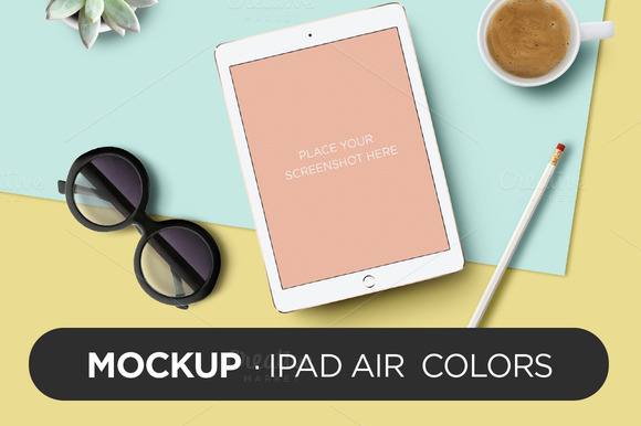 Mockup IPad Air Colors