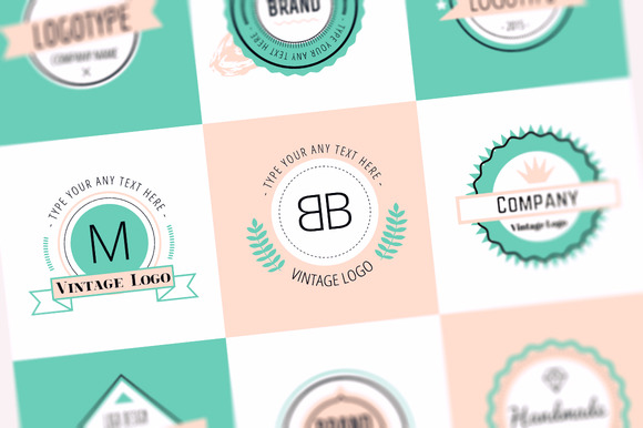 Vector Vintage Logo Design Elements