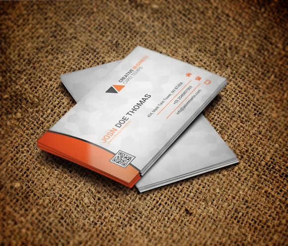 Stylish And Vertical Business Card
