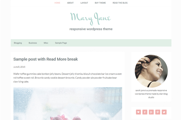 Mary Jane Genesis Child Theme