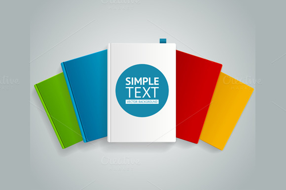 Vector Colorful Book Concept