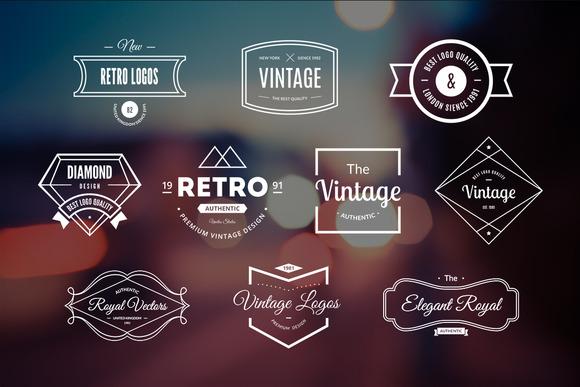 10 Retro Logos Vol 14