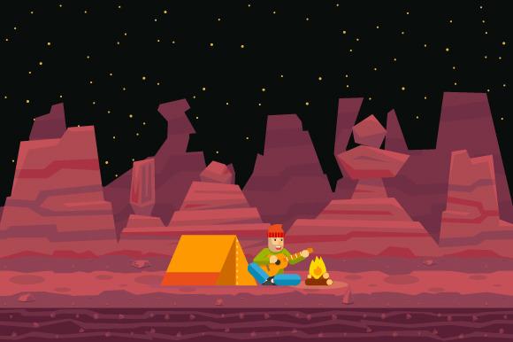 Night Camp Tent Traveler