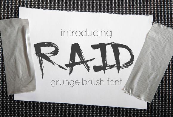 Raid Grunge Brush Font