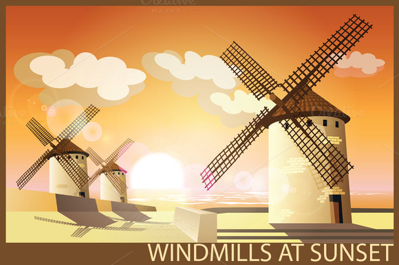 Windmills Set