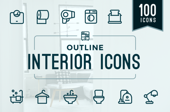 Home Interior Household Icons