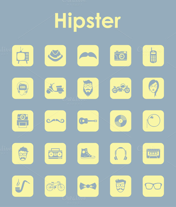 Hipster Simple Icons