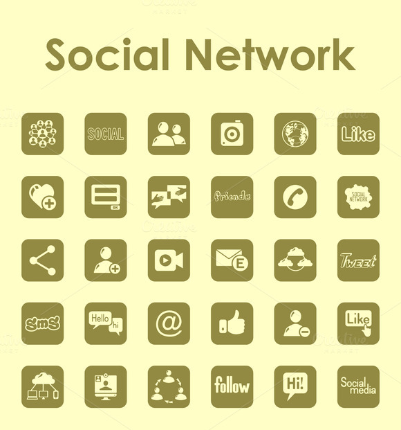 Social Network Simple Icons