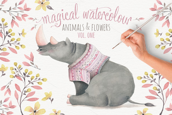 Magical Watercolor Graphics Volume 1