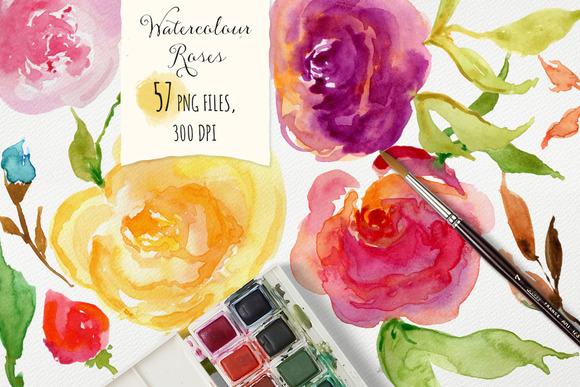 Watercolor Roses DIY
