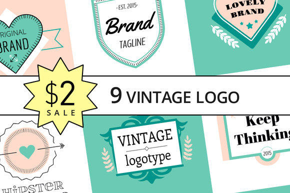 SALE Only $2 For 9 Vectors Logo