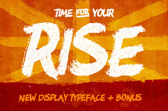 RISE Brush Typeface Bonus