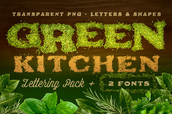 Green Kitchen Creative Lettering