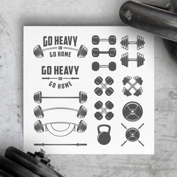 Gym Equipment Design Elements