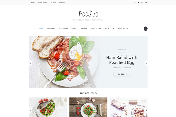 Foodica Food Recipes WP Theme
