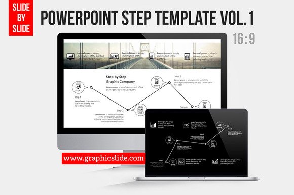 Powerpoint Step Template Vol.1