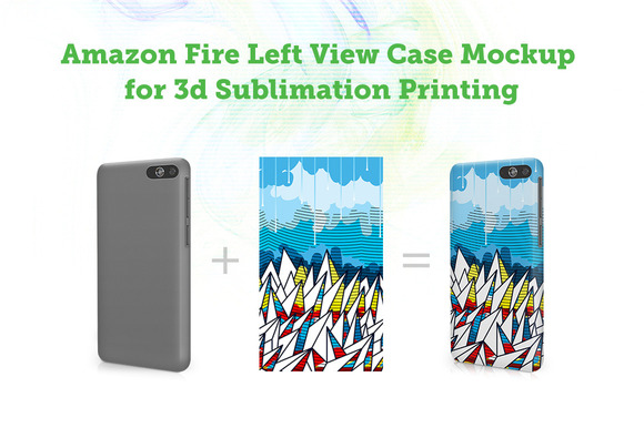 Amazon FirePhone Left 3D Case Mockup