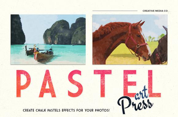 Chalk Pastels Photo Art-Press