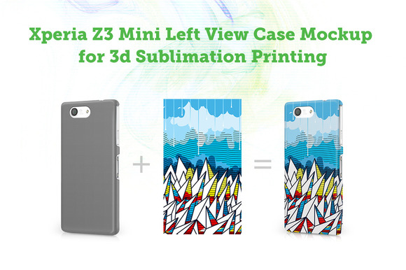 Sony Xperia Z3 Mini 3D Case Mockup