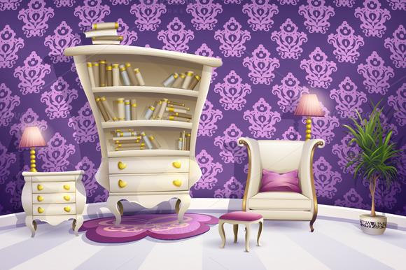 Cartoon White Bedroom Furniture