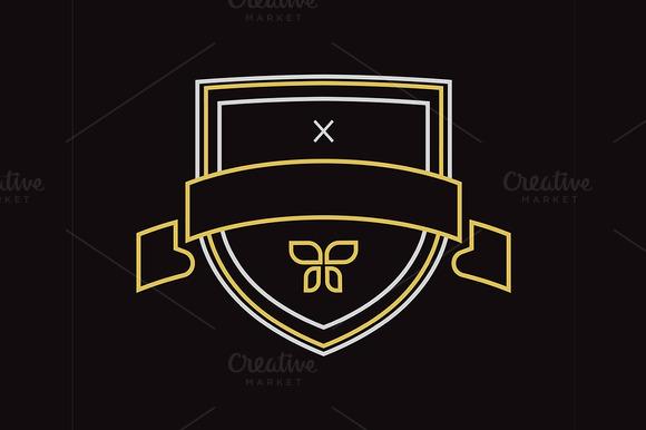 Vector Vintage Logo Design Element