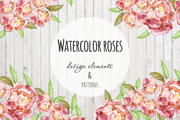 Flower Patterns Design Elements