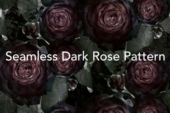 Dark Rose Tileable Pattern
