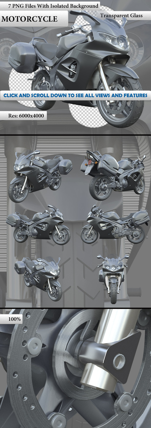 Motorcycle Isolated 7 Renders