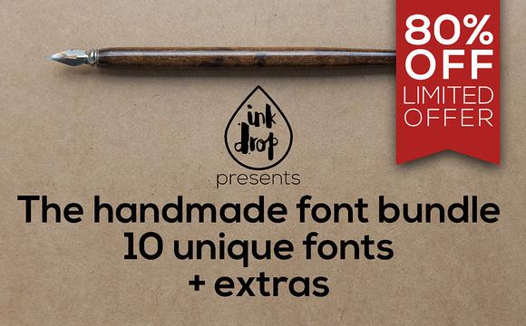 Handmade Font Bundle 80% Off