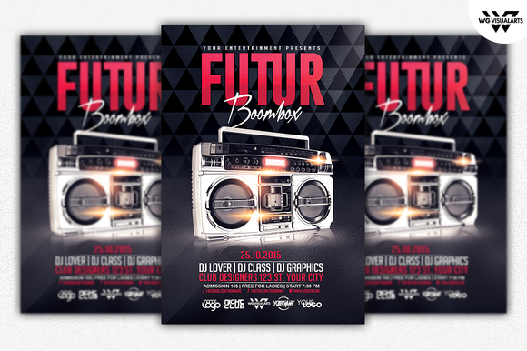 FUTURE BOOMBOX Flyer Template