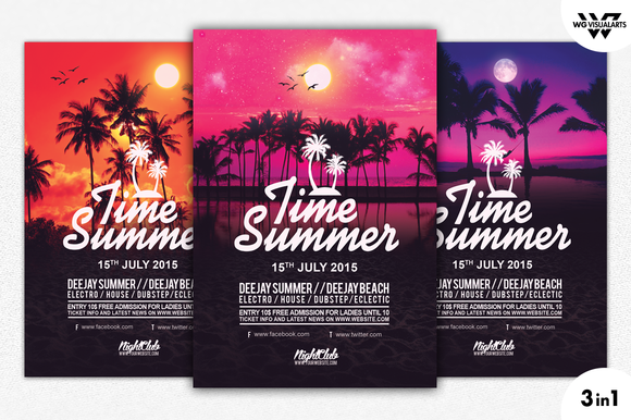 SUMMER TIME Flyer Template