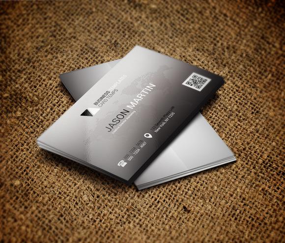 Grey Modern Business Card Template