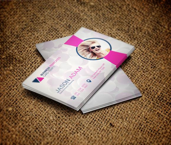 Fiery Pink Vertical Business Card