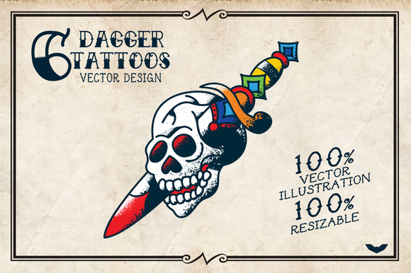 6 Dagger Tattoos