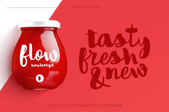 Flow Handscript Typeface