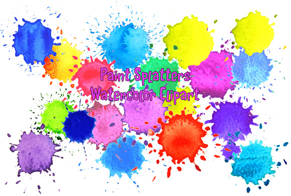 Watercolor Paint Splatter Paint Drop