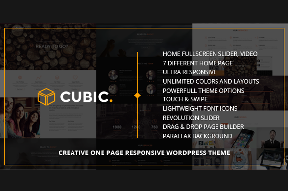 Cubic One Page Parallax WordPress