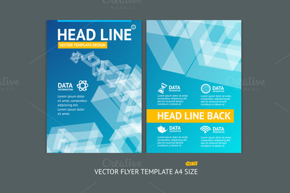 Vector Geometric Shape Brochure