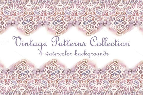 Vintage Watercolor Patterns