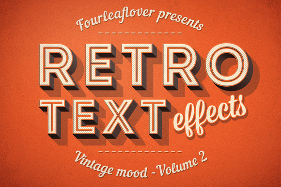 Photoshop Retro Text Effects Vol.2