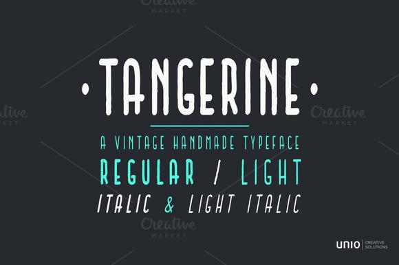 Tangerine Font Family