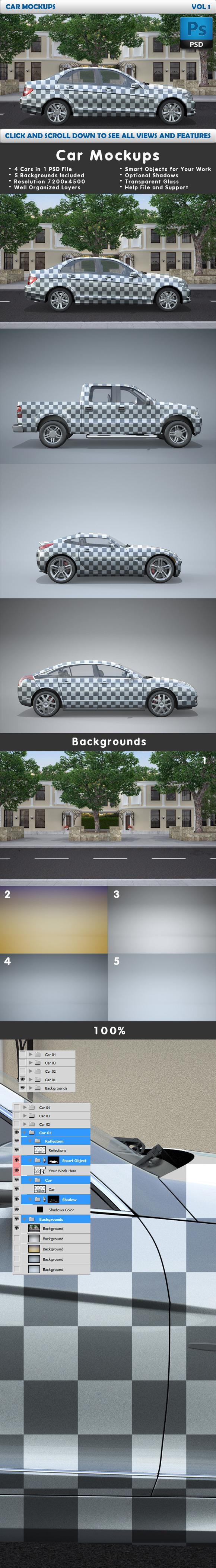 Car Mockups Vol 1 4 Car Mockups